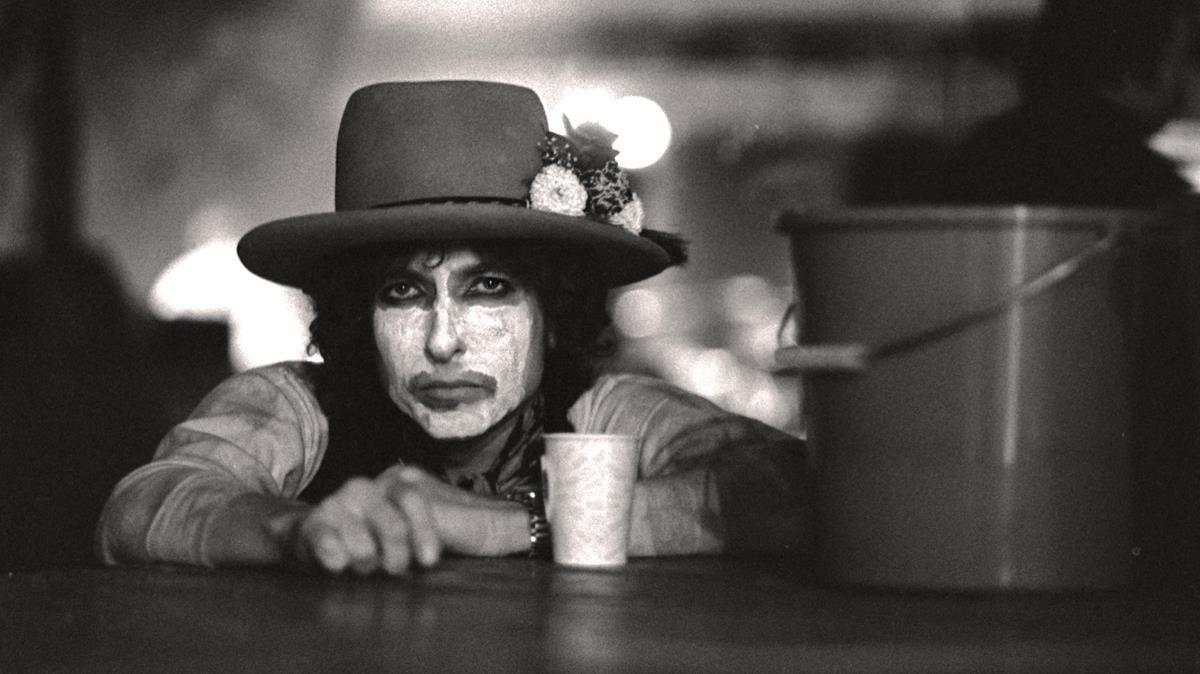Bob Dylan, en la etapa de la Rolling Thunder Revue.