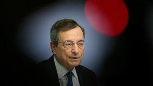 Mario Draghi, en suúltima rueda de prensa comopresidente del BCE.
