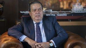 El naviero y presidente de la Asociación de Empresarios Valencianos (AVE)Vicente Boludaen su despacho.