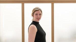 La escritora noruega Helene Flood, durante su visita a Barcelona.