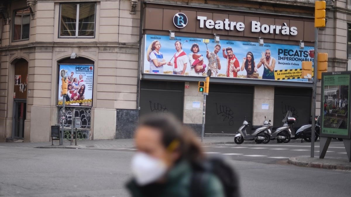 El Teatro Borràs, como el resto de salas, cerrado debido al Coronavirus.