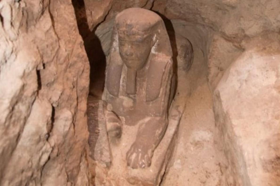 Increíble hallazgo en Egipto; descubren arqueólogos esfinge milenaria