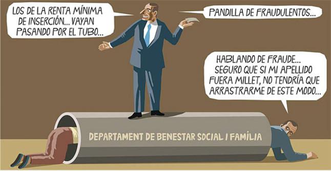 Viñeta de Leonard Beard en El Periódico (10.08.2011)
