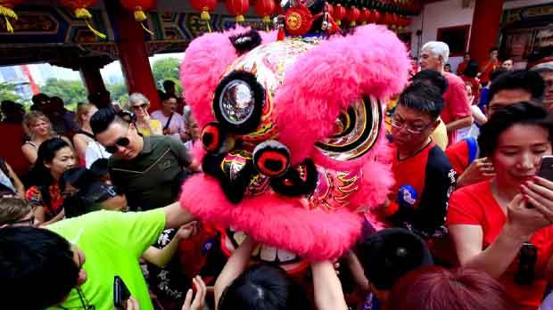 El gallo deja paso al perro en el año nuevo chino