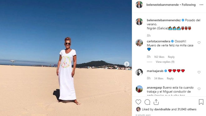 El posat de platja de Belén Esteban