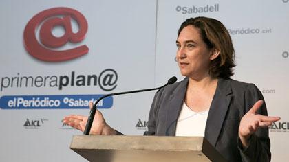 Ada Colau, en el col·loqui de Primera Plan@