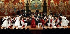 Una imagen del concierto de esta orquesta y ballet en el Palau.