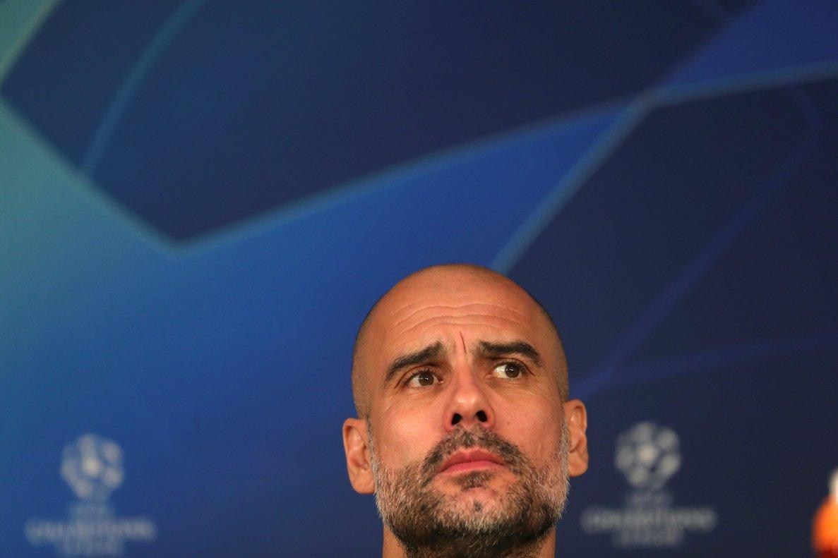 Pep Guardiola en rueda de prensa este martes en el Santiago Bernabéu.