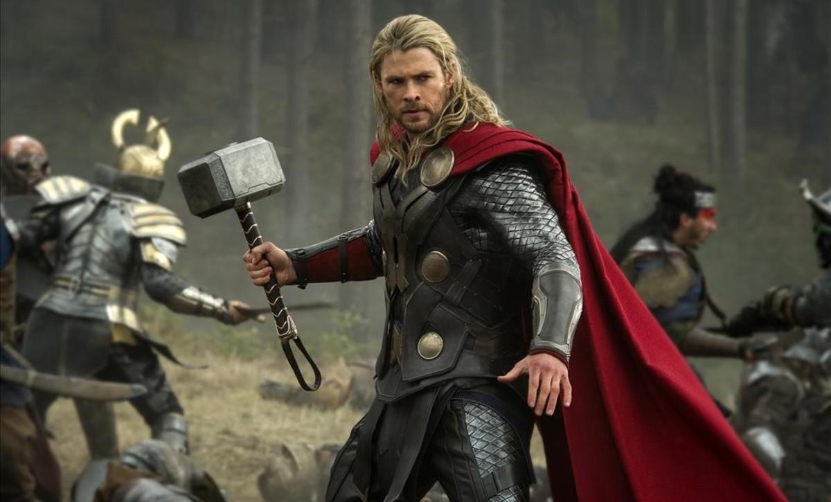 El actorChris Hemsworth, en el papel de Thor.