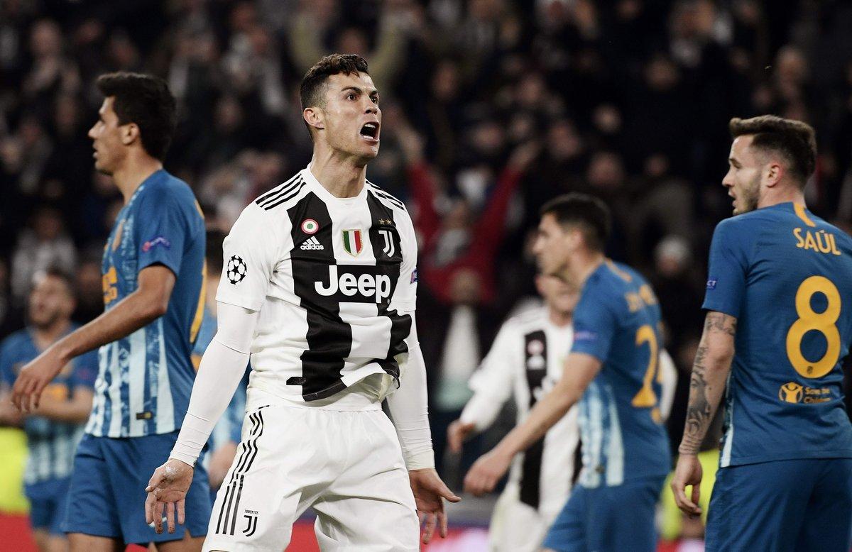 Cristiano Ronaldo celebra el 1-0 de la Juventusante el Atlético.
