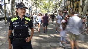 La agente de la Guardia UrbanaAna fuetestigo del atentado de las Ramblas del 17A.