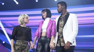 Alba Reche, Natalia y Famous en la gran final de OT 2018.