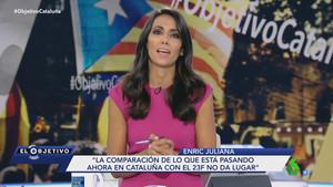 Ana Pastor, en 'El objetivo' dedicado a Catalunya.