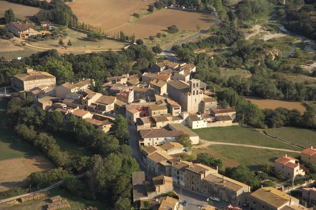 Vista aérea de Avinyonet de Puigventós.