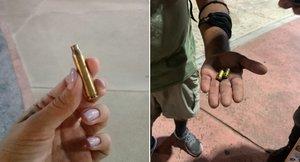 La Policía utilizó balas de alto calibre para reprimir la protesta.