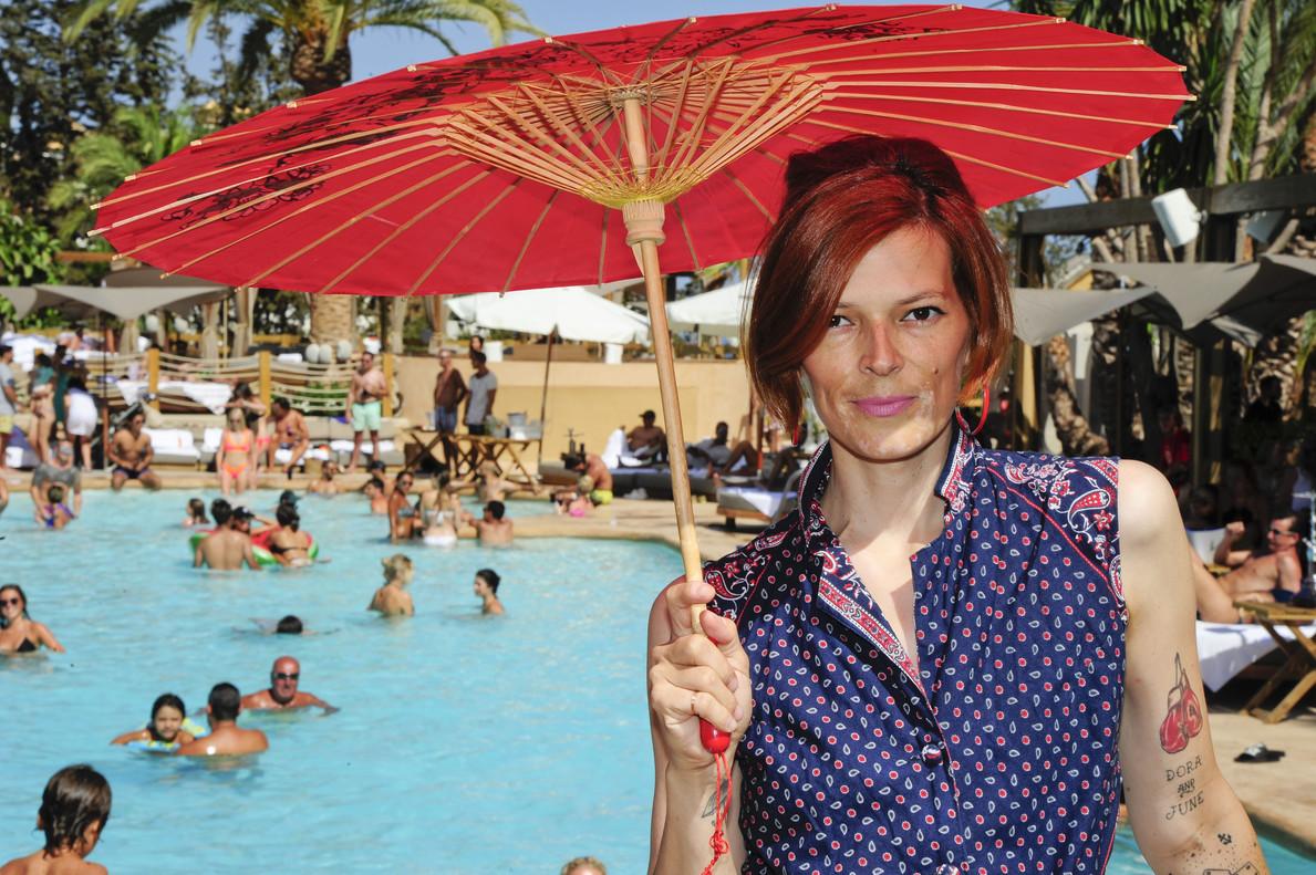 Bimba Bosé, en Marbella, donde estuvo pinchando música el pasado verano.