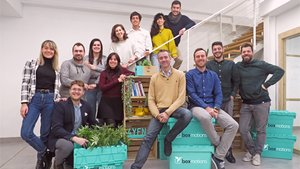 El equipo de la 'start-up' barcelonesa Boxmotions.