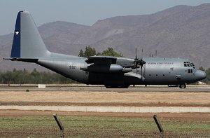 El C130 Hércules pertenece al Grupo de Aviación N° 10 de Chile.