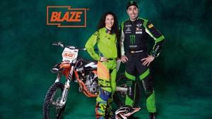 Los pilotos Nani Roma y Rosa Romero, embajadores del canal Blaze.