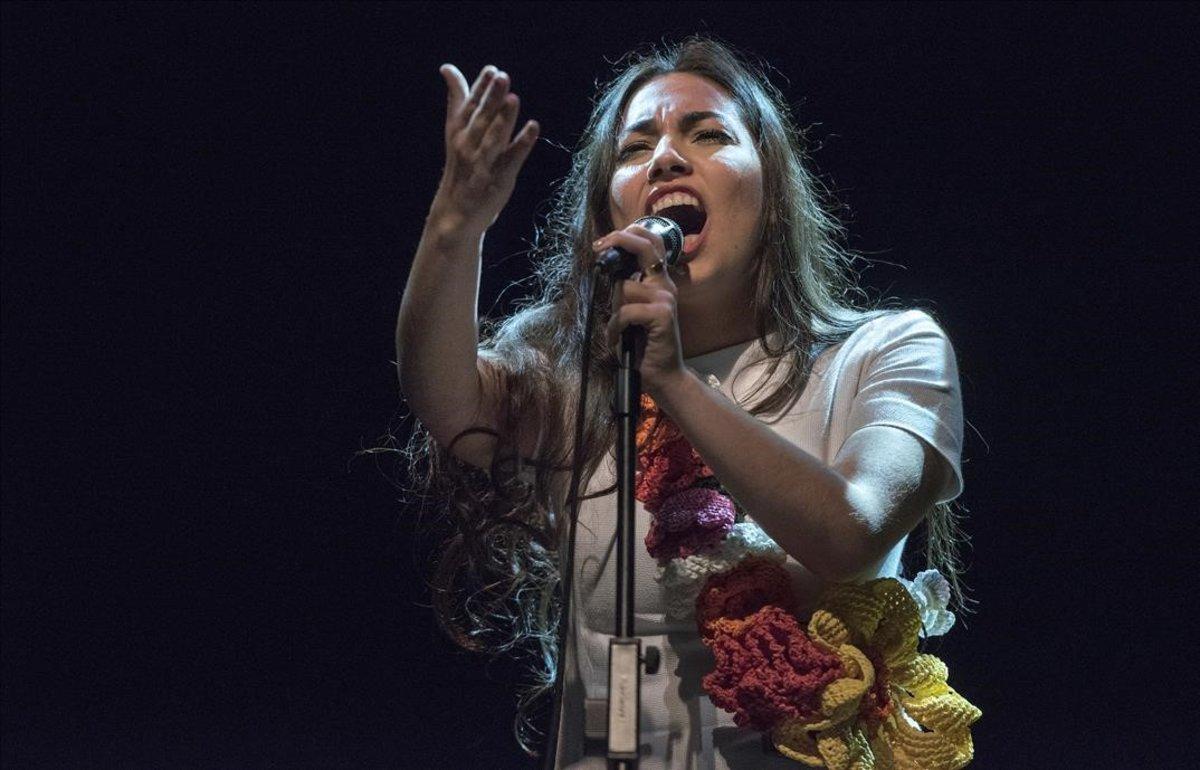 La cantante María José Llergo en el Auditori de Barcelona.