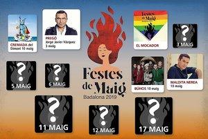 El cartel de las Fiestas de Mayo de Badalona se irá desvelando poco a poco.