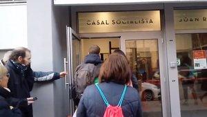 Ocupación del Casal Socialista en Barcelona.