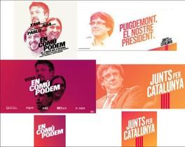 La imagen de Junts per Catalunya, calcada a la de los 'comuns'