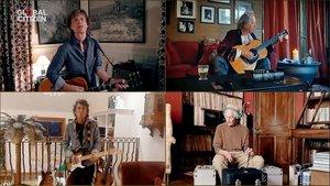 Los Rolling Stones durante el concierto solidario One World: Together at home