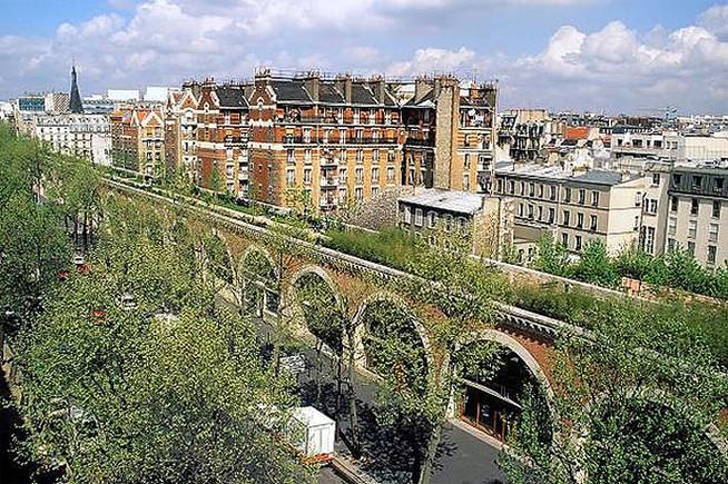 La Coulée Verte ocupa desde hace más de una década estas antiguas vías elevadas de tren.
