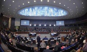 Cumbre de ministros de Defensa en la sede de la OTAN en Bruselas.