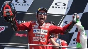 Danilo Petrucci (Ducati) consigue elsueño de ganar en Mugello en MotoGP