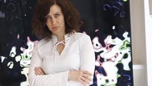 La directora palestina Maha Haj, en Madrid, donde presentó su ópera prima, Asuntos de familia.