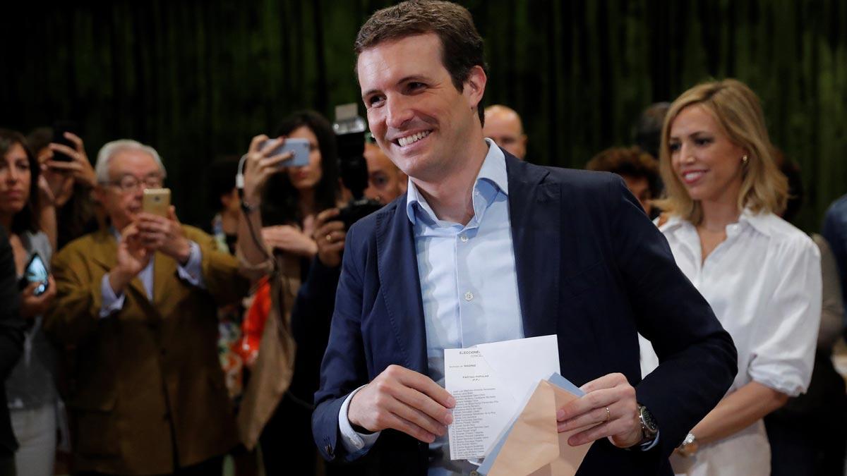 Elecciones 26-M. Casado afirma que los comicios son un contrapeso a los generales.