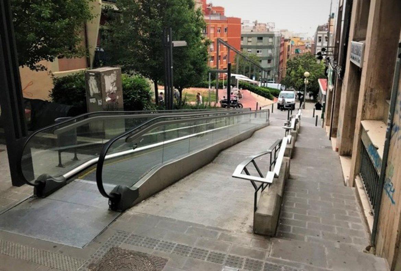 Les reparacions de les rampes mecàniques del carrer Cuba de Badalona començaran al juliol