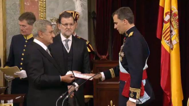 Felip VI jura com a nou Rei d'Espanya, al Congrés dels Diputats.