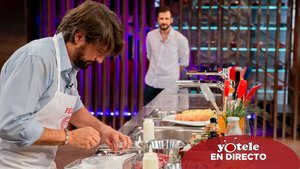 Félix Gómez en la primera prueba de la semifinal de 'Masterchef Celebrity 4'.