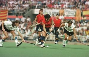 Las 'chicas de oro' de hockey sobre hierba.
