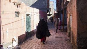 Imagen del barrio de Azzouzzia, Marrakech, de dónde provenían los presuntos asesinos de las dos turistas escandinavas.