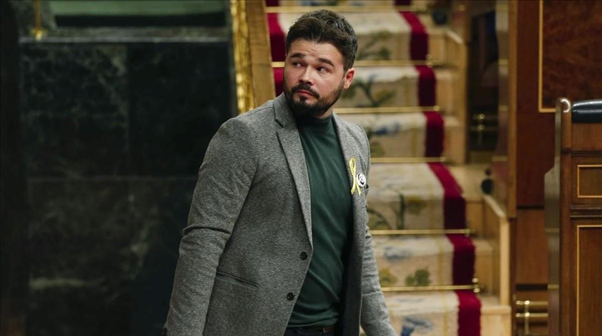 Gabriel Rufián,portavoz adjunto de ERC en el Congreso.
