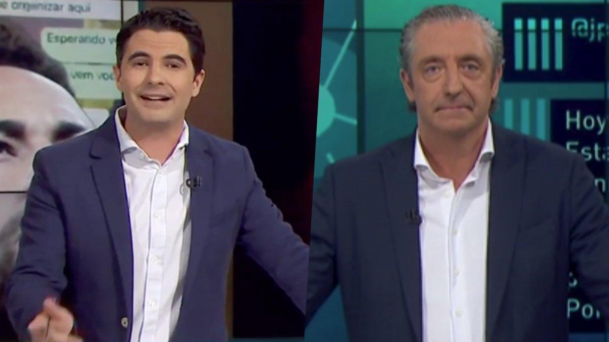 Guillermo Moreno y Josep Pedrerol en 'Jugones'.