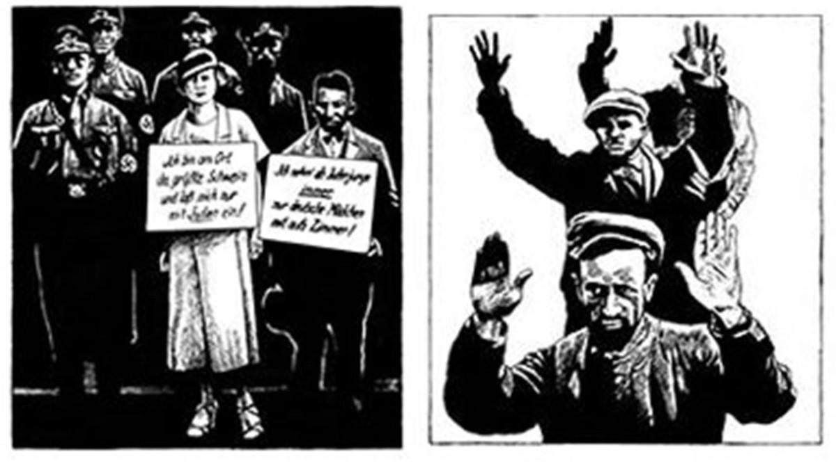 Ilustraciones deFrédéric Pajak para su ensayo gráfico Manifiesto incierto, sobre Walter Benjamin.