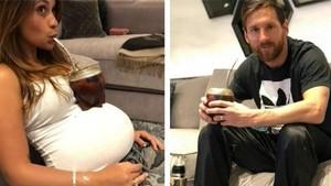 Instagram de Antonela y leo Messi, bebiendo mate.