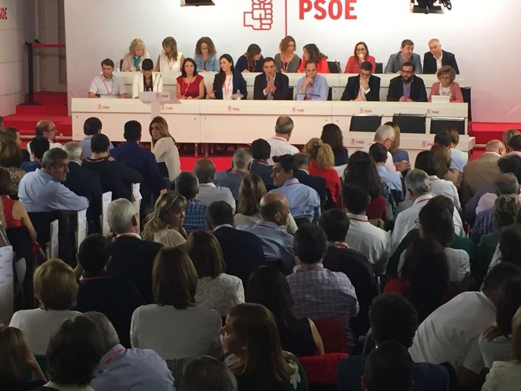Interior de la reuniódel comité federal del PSOE.