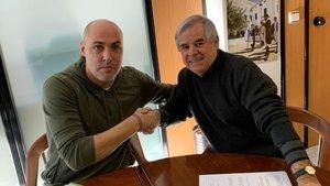 Javi Rodríguez presentado comonuevo entrenador del Industrias Santa Coloma
