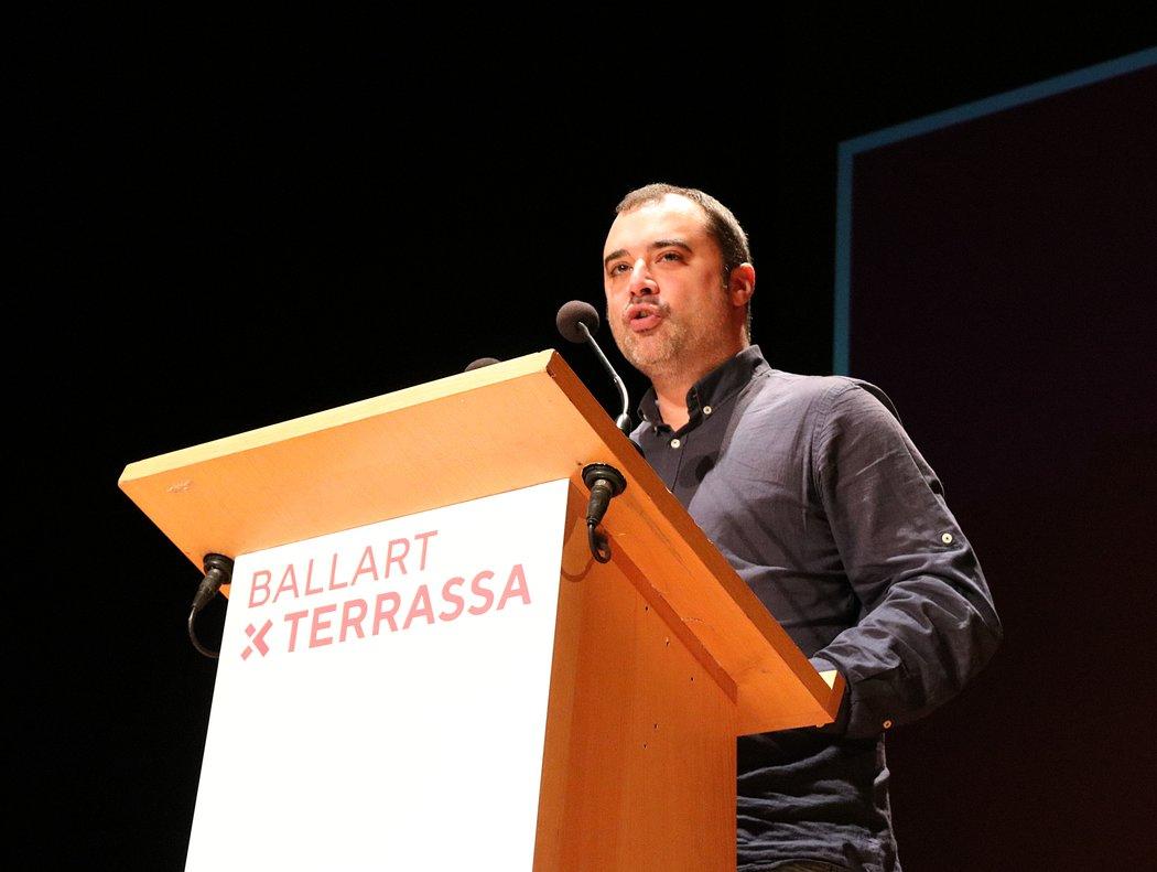 Jordi Ballart durante la presentación del nuevo partido Tot per Terrassa.