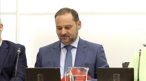 José Luis Ábalos, en la reunión de la Comisión Ejecutiva Federal del PSOE.