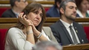 Laura Borràs, en el Parlament.