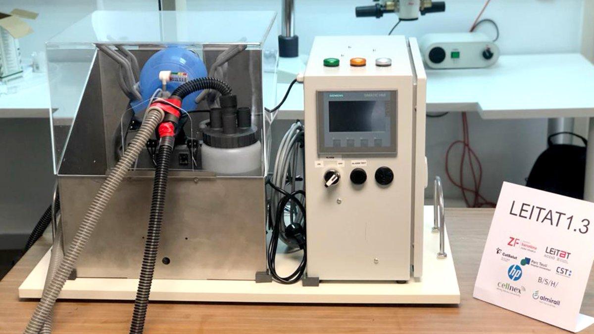 Leitat 1 es un respirador robusto y compacto formado por piezas 3D.