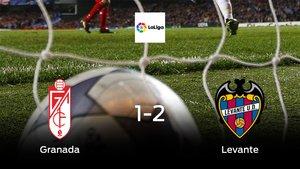 El Levante logra una trabajada victoria ante el Granada (1-2)