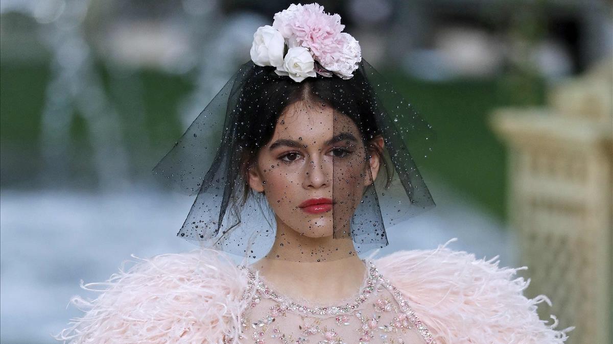 Kaia Gerber, en el desfile de Chanel.